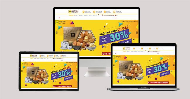 Thiết kế website yến sào