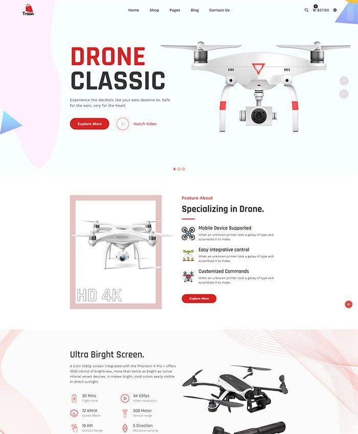 Thiết kế website điện máy đẹp 01