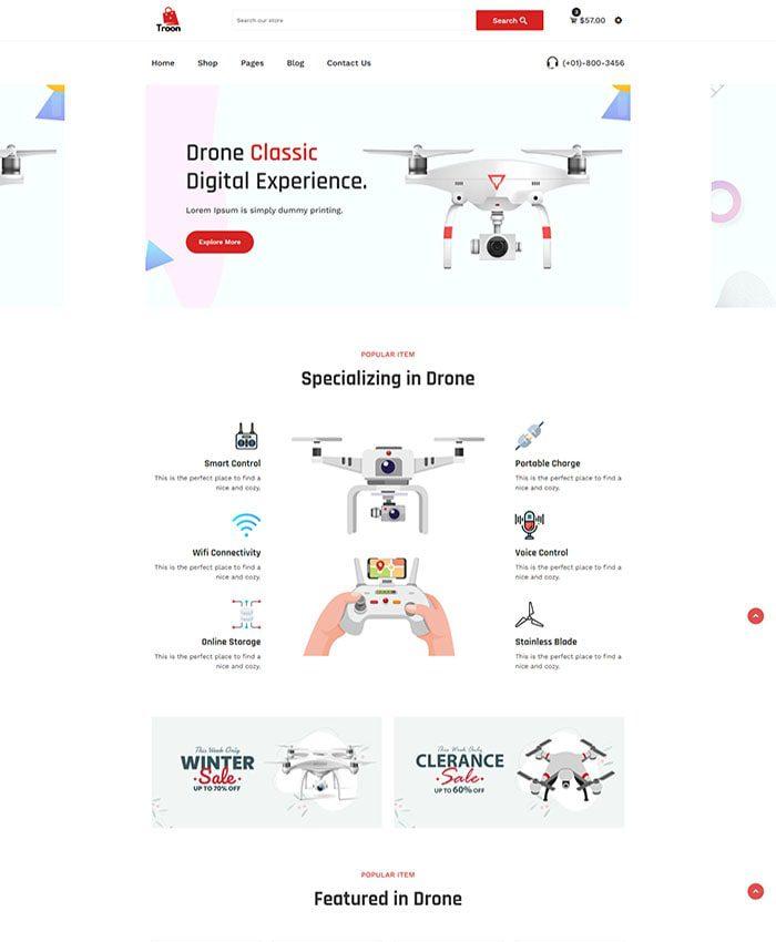 Thiết kế website điện máy đẹp 02