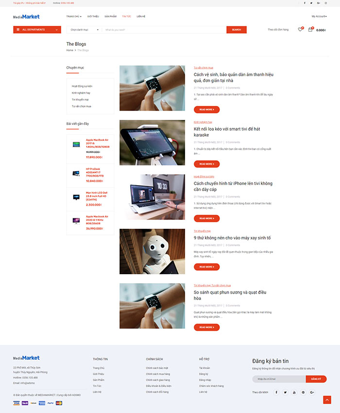 Thiết kế website điện máy đẹp 04