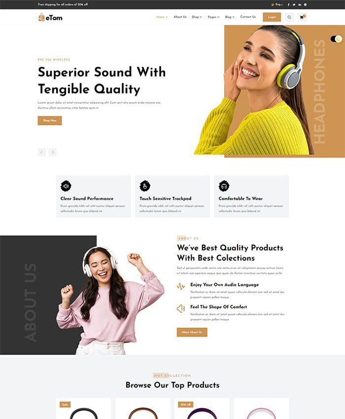 Thiết kế web siêu thị điện máy 01