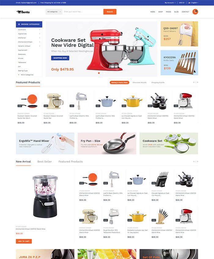 Mẫu website bán hàng điện máy 01