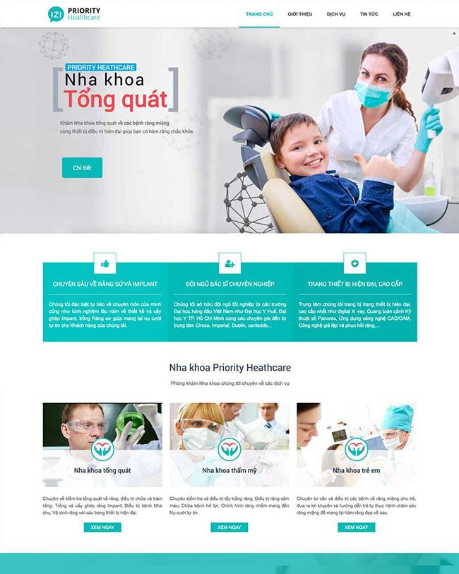 Tính năng trong thiết kế website nha khoa