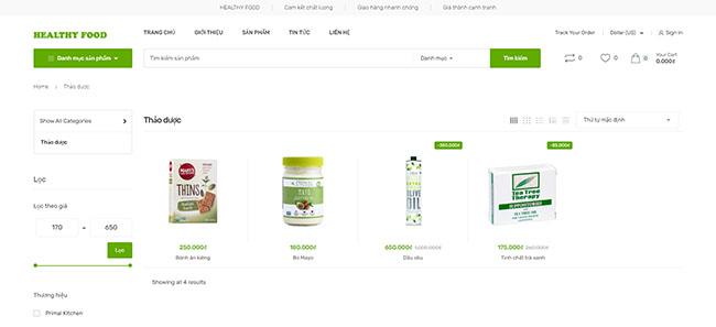 Thiết kế website dược phẩm đẹp
