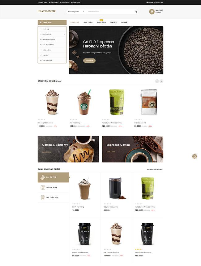 Thiết kế website đồ uống chất lượng cao