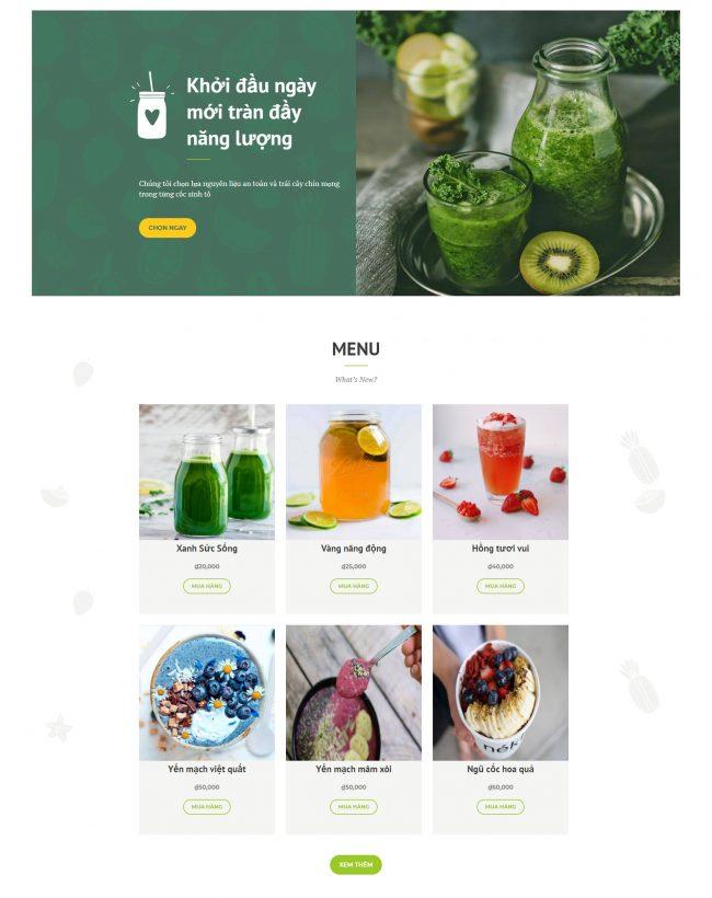 Thiết kế website bán hàng đồ uống đẹp