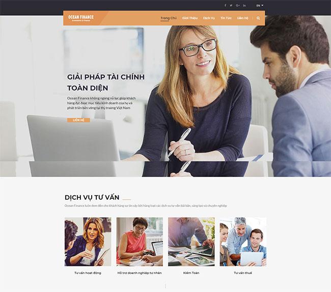 Thiết kế website chứng khoán chuẩn Digital