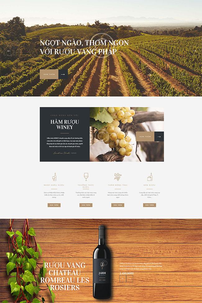 Thiết kế website đồ uống, rượu vang đẹp