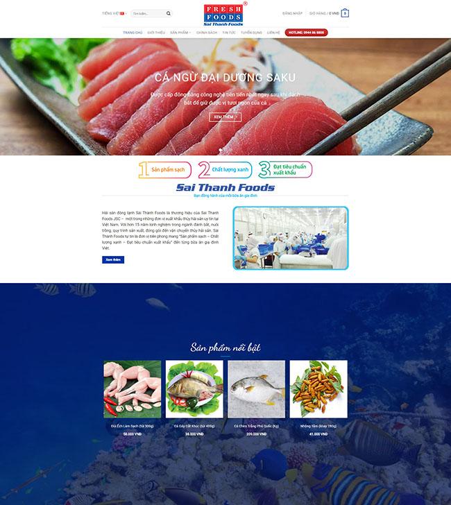 Thiết kế website thủy hải sản giúp quảng bá thương hiệu