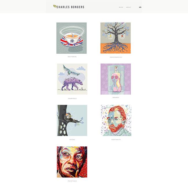 Thiết kế website nghệ thuật Charlesbonger