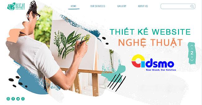 Thiết kế website nghệ thuật: 9 mẫu website đẹp nhất 2020