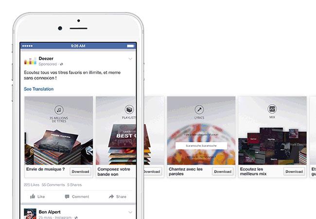 Ý tưởng giới thiệu App Mobile quảng cáo carousel ads