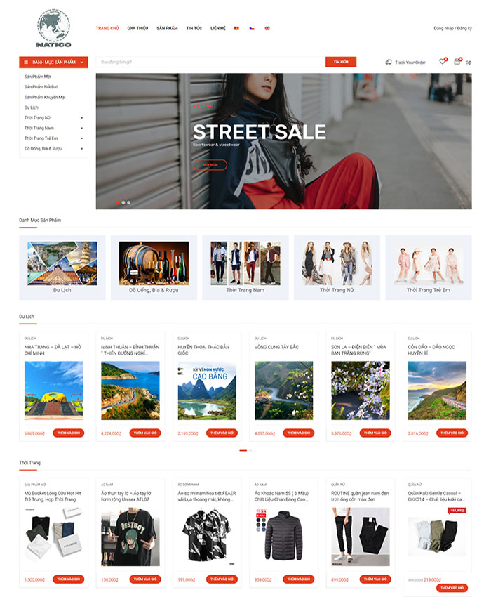 Thiết kế website bán hàng Nam Tiệp