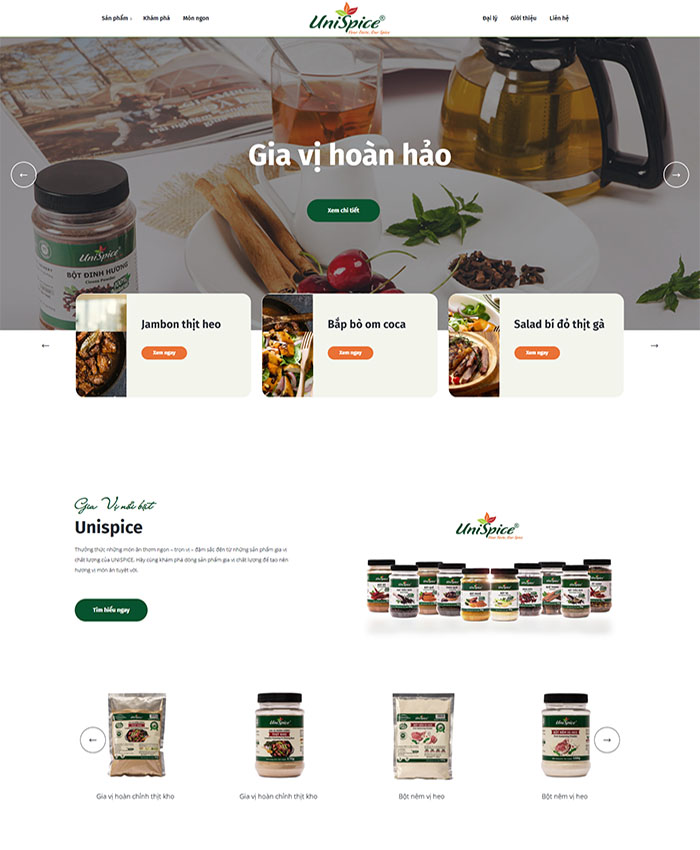 Thiết kế website UniSpice